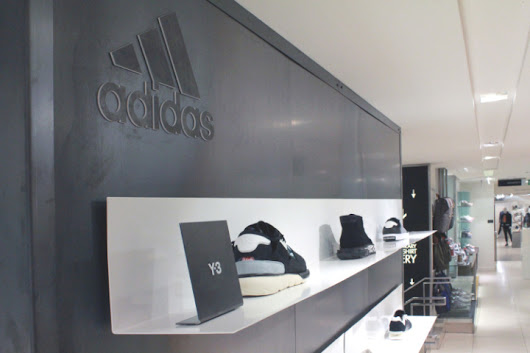 Adidas pop-up visuals in Harvey Nichols by Studio XAG, London – UK »  Retail Design Blog
