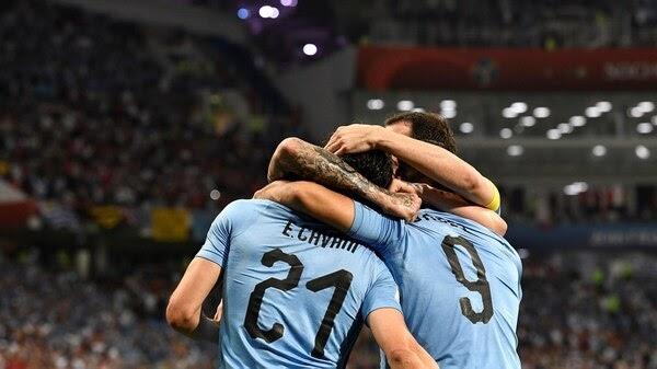 Con dos goles de Edinson Cavani, Uruguay eliminó a Portugal y se clasificó a los cuartos de final