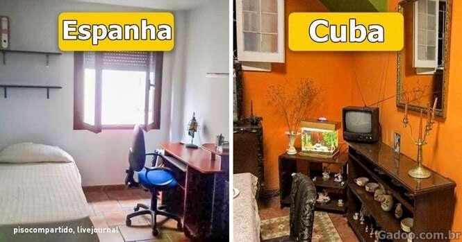 É assim que as casas típicas em várias partes do mundo se parecem