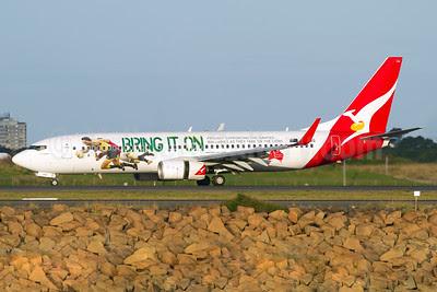 QANTAS Airways Boeing 737-838 WL VH-VXG (msn 30901) (Bring It On - Proudly Supporting the QANTAS Wallabies) SYD (Micheil Keegan). Image: 911596.