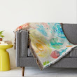 Featured: Watercolor Abstract Rose Throw Rug