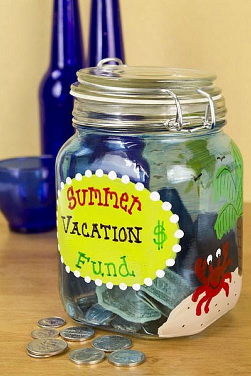 Summer Vacation Fund Jar - Project by DecoArt