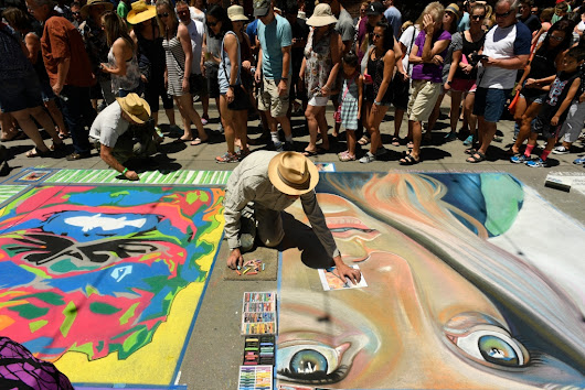 Artists hit the street for Denver Chalk Art Festival