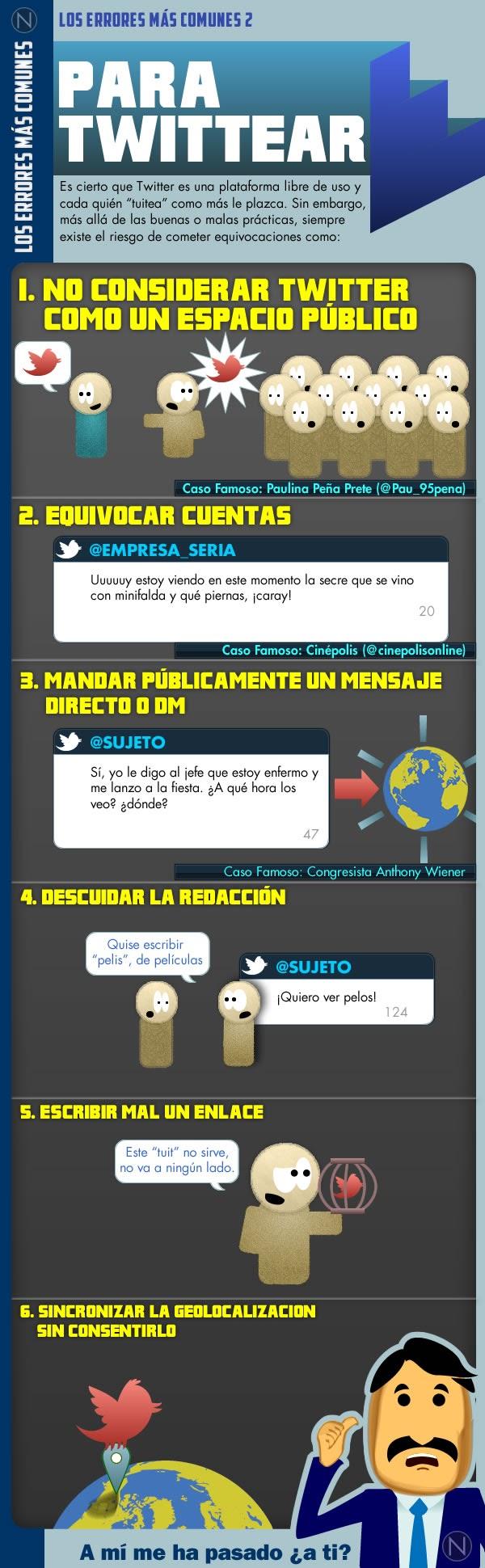 Los errores que no hay que cometer en Twitter - Infografía