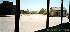 From the town saloon, the view of the Earp buildings in the distance. Photo copyright 2003-2004 Donna Durrett, all rights reserved.