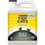 Tidy Cats Clumping Litter for Multiple Cats, 4-In-1 Strength - 20 lb jug