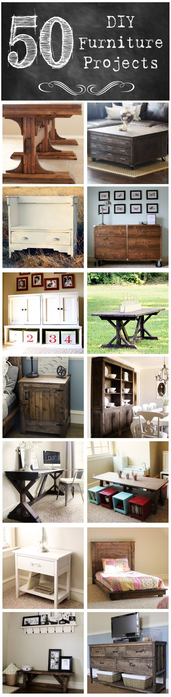 vintage inspired home furniture projects