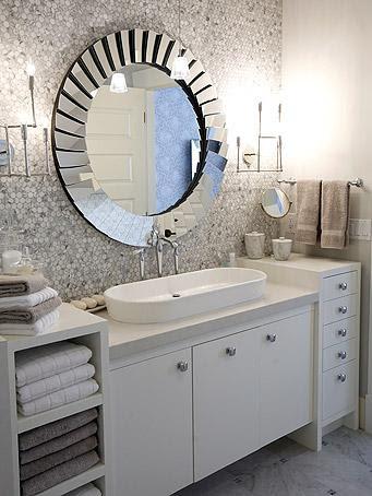 White Marble Hex Backspalsh - Contemporary - bathroom - Sarah ...