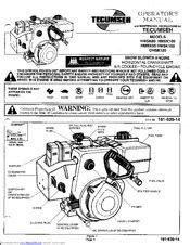 Tecumseh HMSK90 Manuals