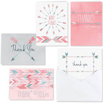 Hortense B. Hewitt 54030 Watercolor Arrow Thank You Set