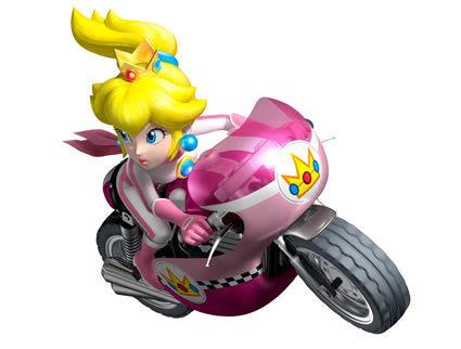 mario and princess peach pictures. Princess Peach Mario Kart