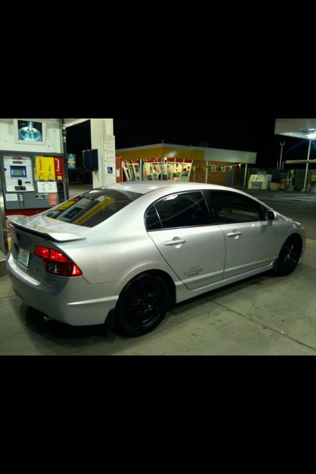2007 Honda Civic Si Sedan Silver Black Wheels Vadriven Com Forums