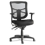 Alera Elusion Series Mesh Mid-Back Multifunction Chair, Black (ALEEL42ME10B)