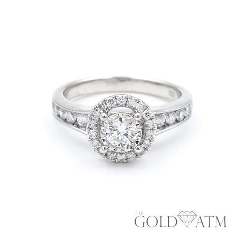 14K White Gold .50ct Diamond Engagement Ring from Zales