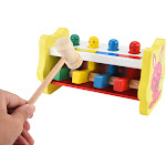 Wooden Pounding Bench Hammering Toys with Mallet Strike Game Educative Toddler