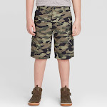 Wrangler Boys' Outdoor Cargo Shorts - Olive 12, Green