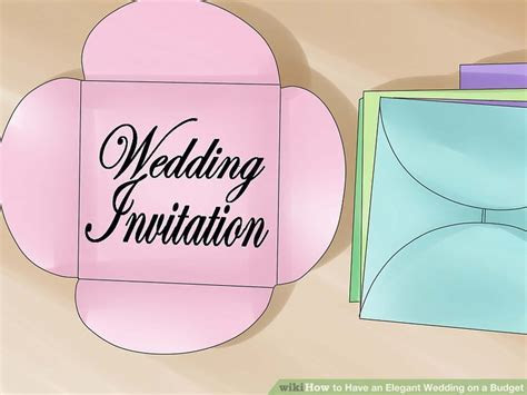 5 Ways to Have an Elegant Wedding on a Budget   wikiHow