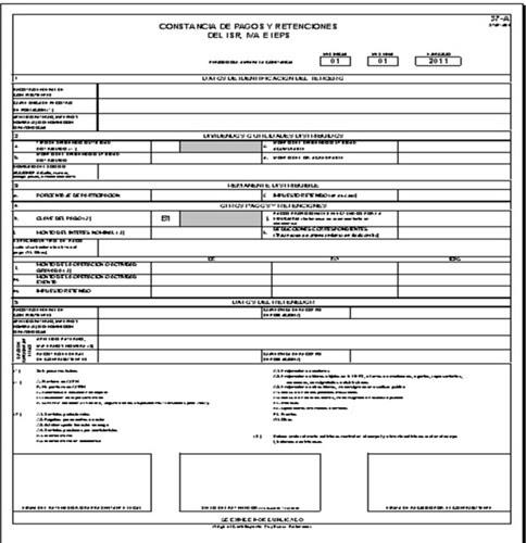 Constancia de Retenciones de Impuestos Editable (Excel)