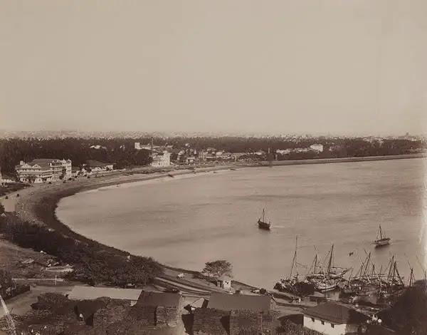 Panorma of Bombay (Mumbai) - 1870