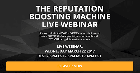 Join Us Live: The Reputation Boosting Machine
