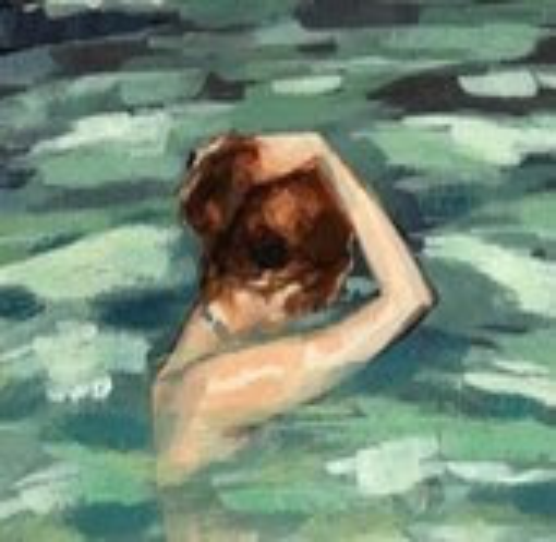 My Home is the Sea . giclee print from acrylic painting . beach house art - tastesorangey