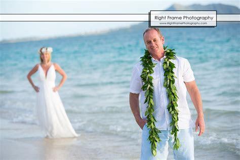 Sunrise Vow Renewal in LANIKAI BEACH OAHU HI by RIGHT