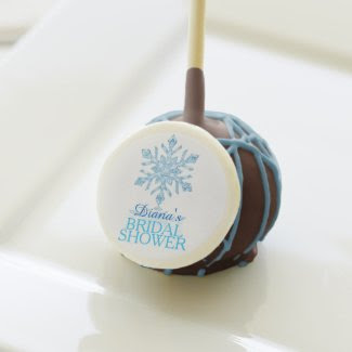 Glass Snowflake Winter Bridal Shower Cake Pop Cake Pops