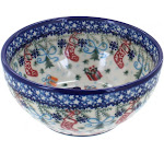 Vena Christmas Bounty Cereal/Soup Bowl Polish Pottery