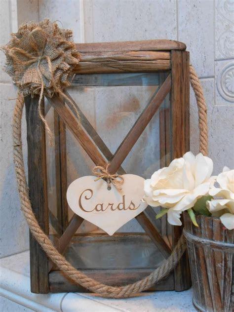 Wooden Lantern Wedding Card Holder Rustic Wedding Lantern