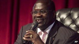 O ex-Sudão do Sul Vice-presidente Riek Machar (imagem de arquivo)