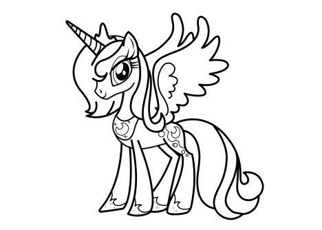 Little Pony Coloring Pages Free Download Best Little Pony Coloring