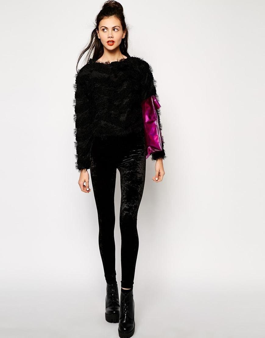how to wear velvet leggings18 cute outfits with velvet