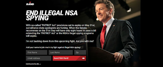 Rand Paul's Sophisticated Patriot Act List-Building & Fundraising Strategy