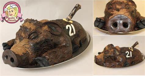 wild boar hunting cake boys birthday cakes pinterest