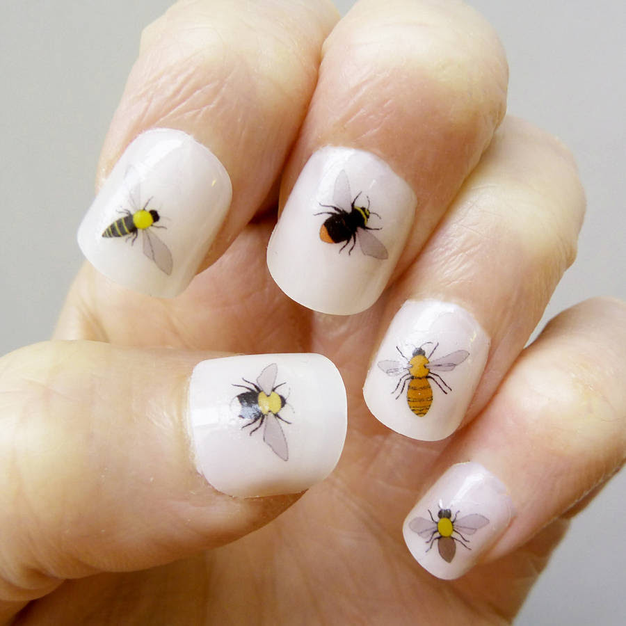 bee nail art transfers by kate broughton ...