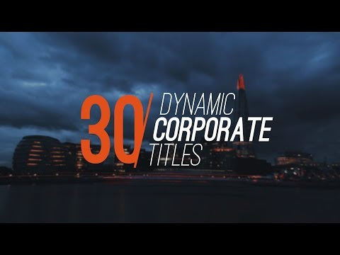 30 Dynamic Corporate Titles - After Effects Template