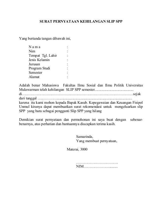 Surat pernyataan kehilangan_slip_spp