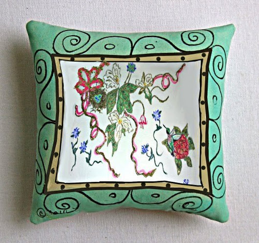 Hand Painted Throw Pillows To Adorn Your Sitting Area | Clearly Susan
