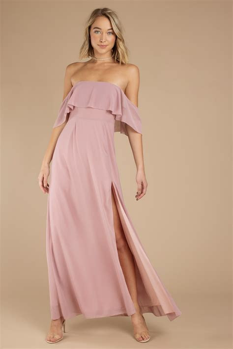 Pink Maxi Dress   Long Formal Dress   Pink Prom Dress
