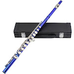 western concert flute cupronickel plated silver 16 holes c key woodwind instrument