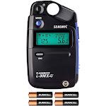 Sekonic L-308X-U Flashmate Light Meter W/ 4 AA Batteries and FiberTique Cloth by PhotoSavings.com