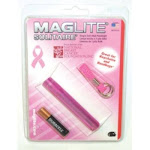 Mag Instrument K3AMW6 Maglite Solitaire Incandescent 1-cell Aaa National Breast Cancer Foundation Flashlight Pink