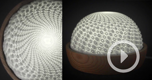 Flux: A Mesmerizing 3D-Printed Zoetrope that Glows