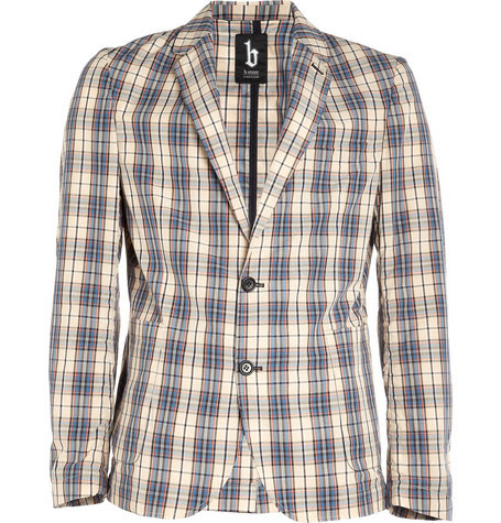 B StoreBert Plaid Cotton Blazer