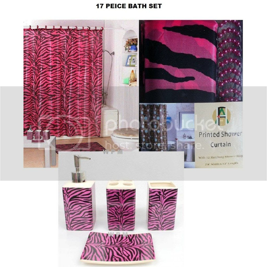 Shower Curtain Zebra Rings | Interior Decorating Tips