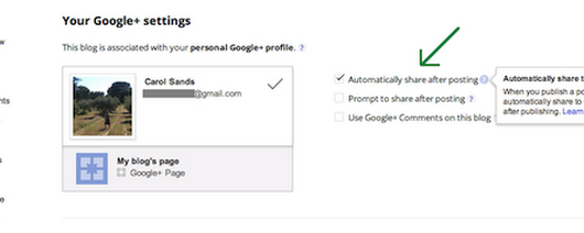 Share your posts to Google+ - Blogger Help