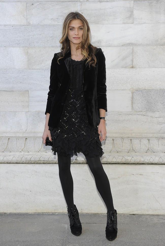3 Elisa Sadnaoui in Roberto Cavalli @ Roberto Cavalli FW1213 fashion show 27-02-2012 Milan
