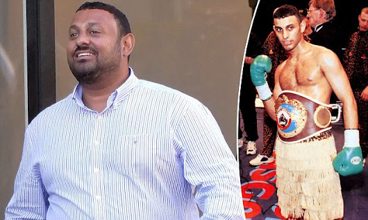 Boxer Prince Naseem looks almost unrecognisible from his lean hey-day