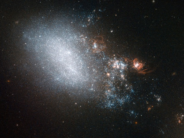 Galáxias Nasa (Foto: Nasa/AFP)