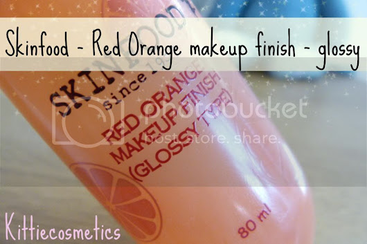 REVIEW: Skinfood Red Orange Makeup finish - Glossy type